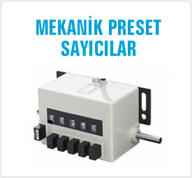 MEKANIK PRESET SAYICILAR